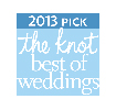 The Knot best of weddings badge 2013