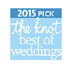 The Knot best of weddings badge 2015